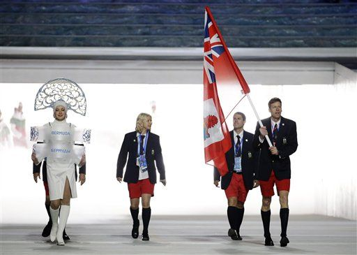 team bermuda opening ceromony sochi | ... team during the opening ceremony of the 2014 Winter Olympics in Sochi