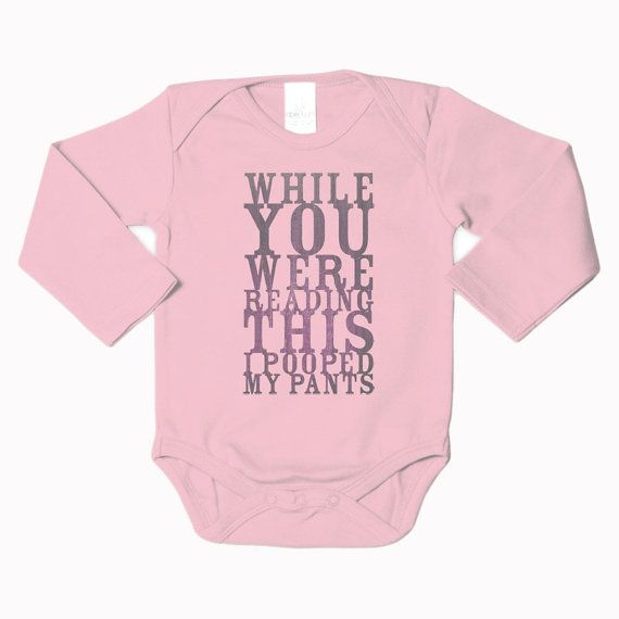 """Pooped My Pants"" Bodysuit lmao I could see Joey buying this for our kid lol"