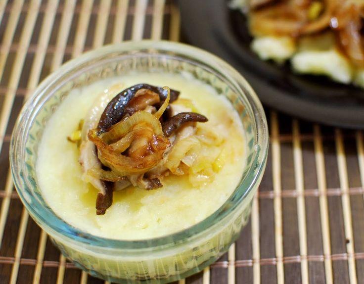 Batata com Shitake, Cebola e Alho-Poró