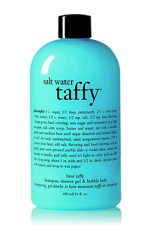 i love philosophy products and this one smells aaamazing! Note: LOVE Salt Water Taffy! Must try this!