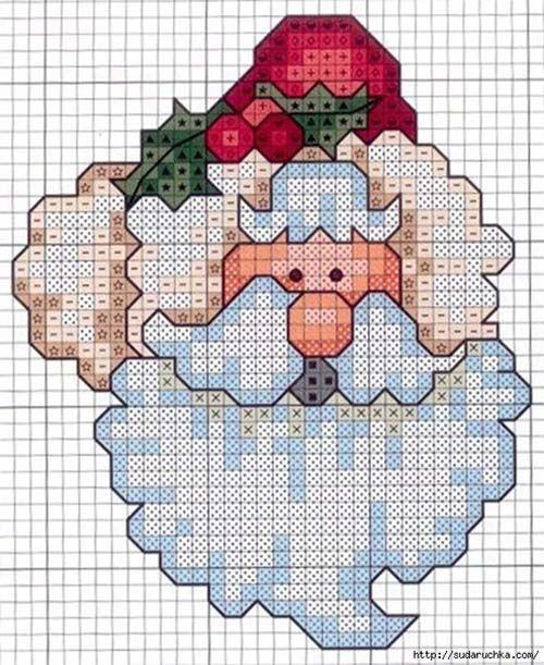 Patrones de figuras navidad en punto de cruz03