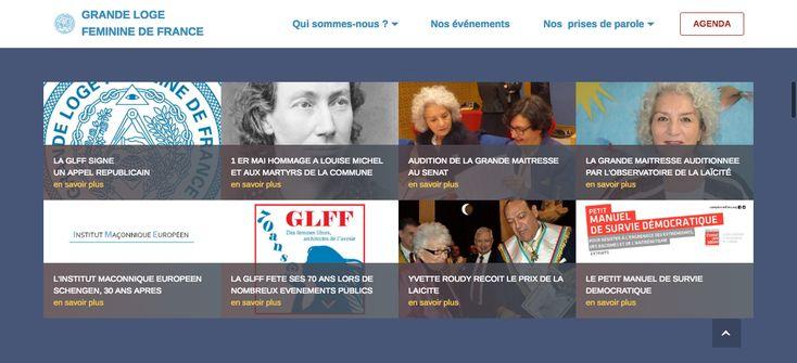 La Grande Loge Féminine de France (GLFF) s'est récemment doté d'un nouveau site internet au design épuré mais à la navigation intuitive.