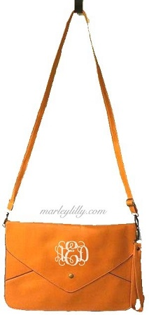 Monogrammed TN Pale Orange Penny Cross Body Wristlet Purse, I WILL have this for football season this year.