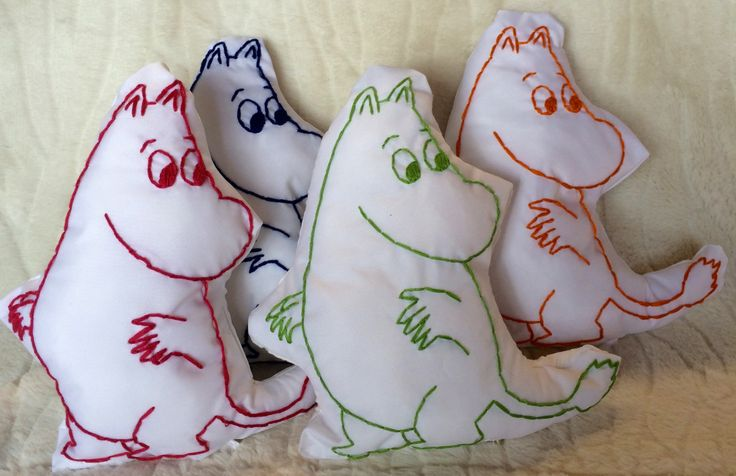 Moomin Plushie - Hand Stitched Moomintroll Cuddly by JessicaMariaArt on Etsy