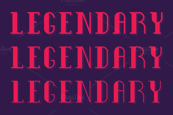 Legendary Type 2 by SNK's on Creative Market