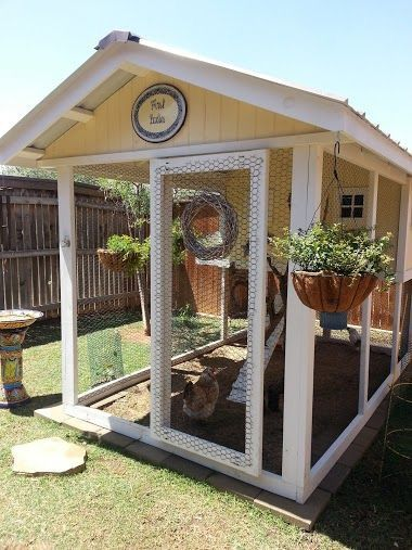 123 best rabbit hutches images on pinterest house rabbit for Fancy chicken coops for sale