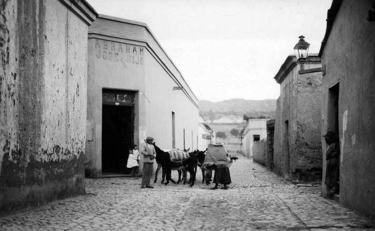 1890's Jujuy. calle de Humahuaca
