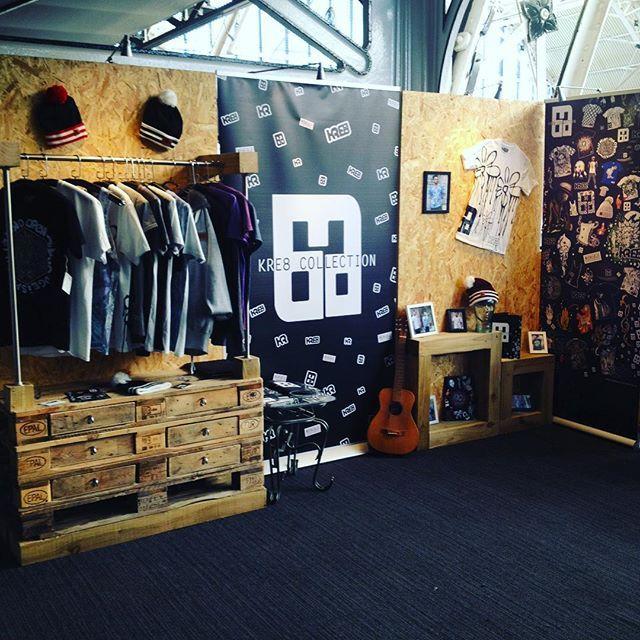 KRE8 Collection. High end Streetwear. Urban Clothing.Hip-Hop. Exhibition stand. Bespoke Furniture. Ash David Art.