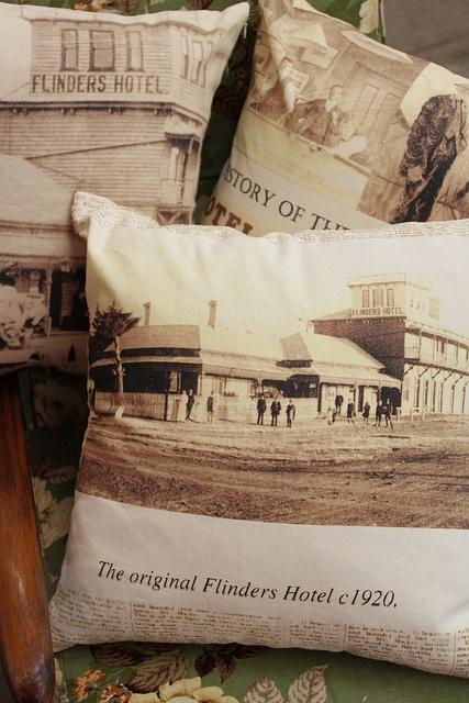 Flinders Hotel Cushions by Frankie and Swiss, via Flickr