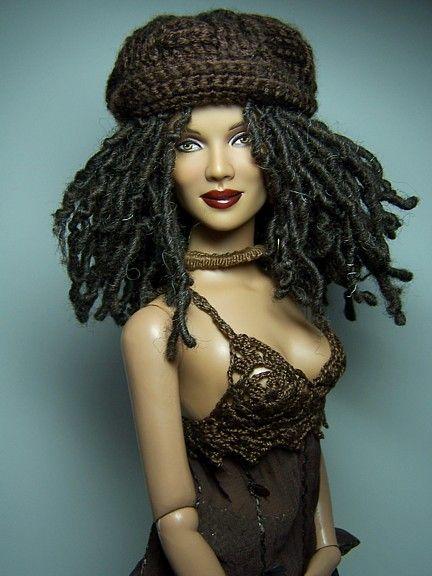 OOAK Rhasta/Hipster Downtown Black Doll.