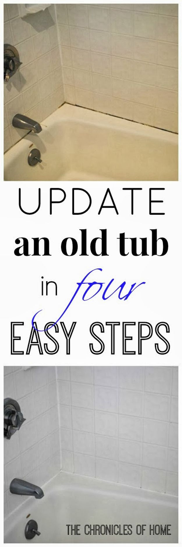 Affordable And Easy Bathroom Makeover Ideas And Tips Updating A Bathtub Tutorial By Diy Ready