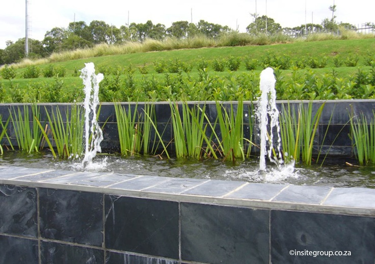 Water feature design at Alice lane, Sandton, South Africa, by Insite landscape architects