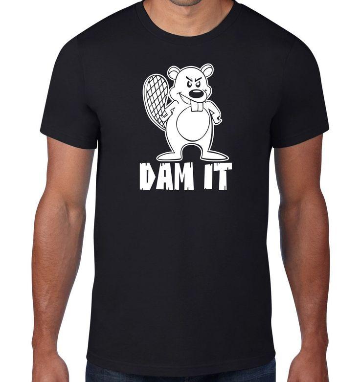 New+Black+For+Men+Tshirt+Funny+T+Shirt,+Beaver+T+Shirt,+Dam+It+Beaver+Tshirt,+Damn+It+Beaver+Tee