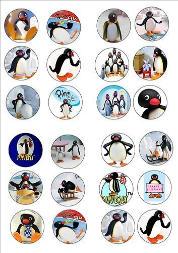 PINGU EDIBLE WAFER RICE PAPER BIRTHDAY PARTY CUP CAKE TOPPER X 24 | eBay