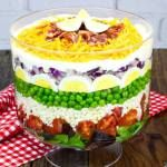 Make this Layered Cobb Salad once and it will become a staple in your house. It has in ours.All of the layers combine to make the most amazing flavor! If you don't have a large glass bowl to show the layers, you can just toss all the ingredients together in whatever bowl you have. EitherView Post