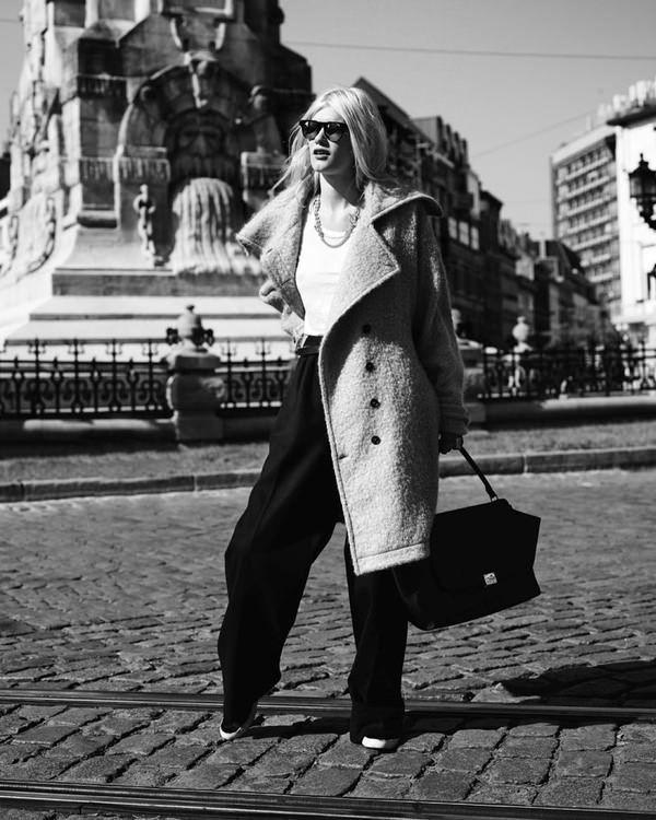 Oversized coat, Celine bag