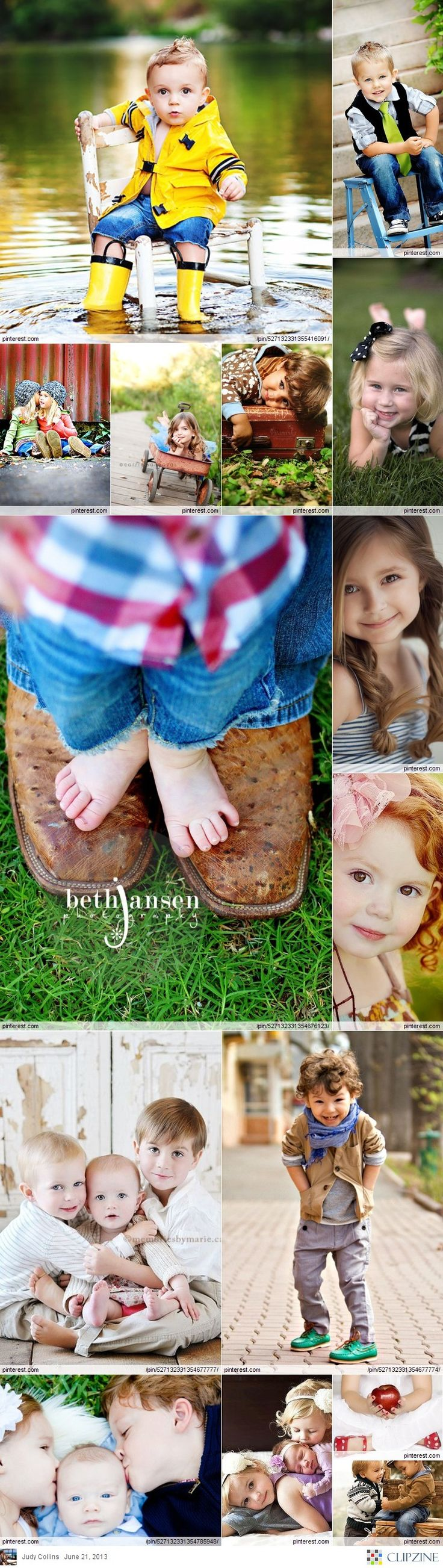 Children's Photography - cute poses and outfit ideas