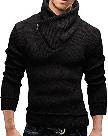 Merish Cardigan Sweater Scarf Collar Slim Fit Men`s 51