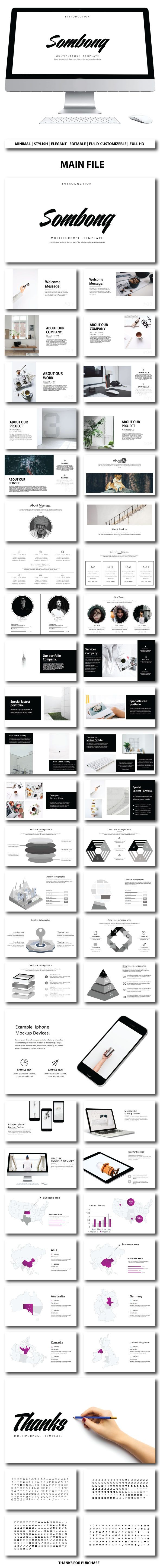 Sombong Presentation Template - #PowerPoint Templates Presentation Templates