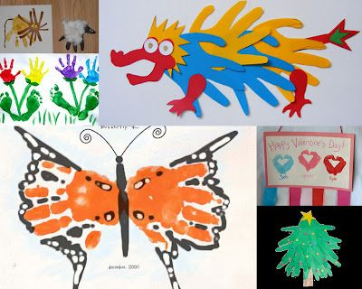 Amazing list of handprint crafts for every month and holiday all year round.