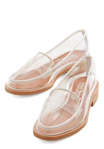 These are awesome for those of us who like to make our own socks! Much better than wearing sandals to show them off ;-)  Proud and Clear Loafer by Jeffrey Campbell