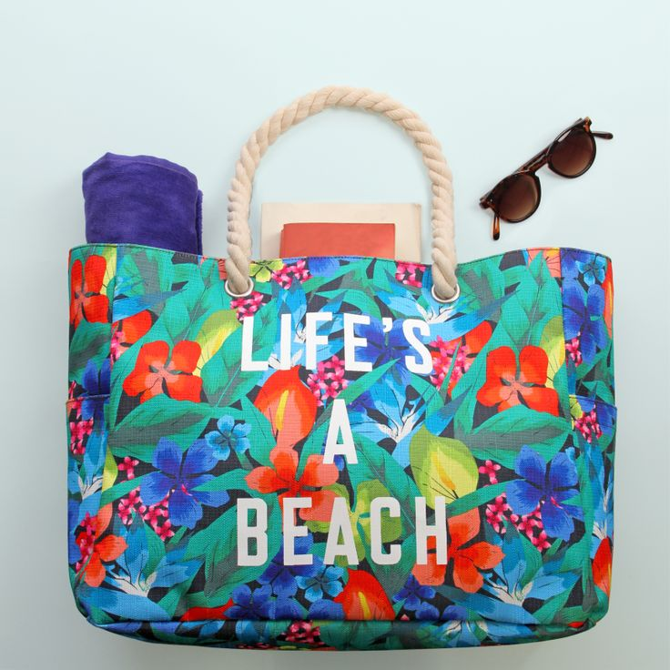 Life's a b... each! Pack up all your things and head off to the seaside. You'll stand out with this gorge beach bag