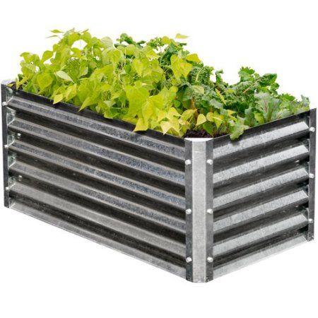 EarthMark High 3.3 ft x 1.8 ft Galvanized Steel Raised Garden