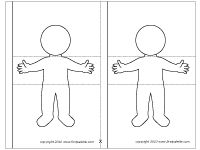 Body Flipbook | Printable Templates & Coloring Pages | FirstPalette.com