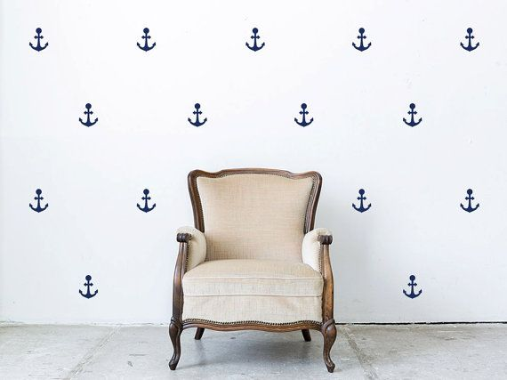 Decor van het anker patroon Mini Wall stickers door StickerHog