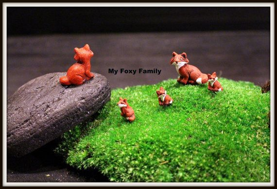 Terrarium Supplies-Miniature Pig-Black Pig-Pink Pig-Tiny Fox-Baby Fox-Farm animals