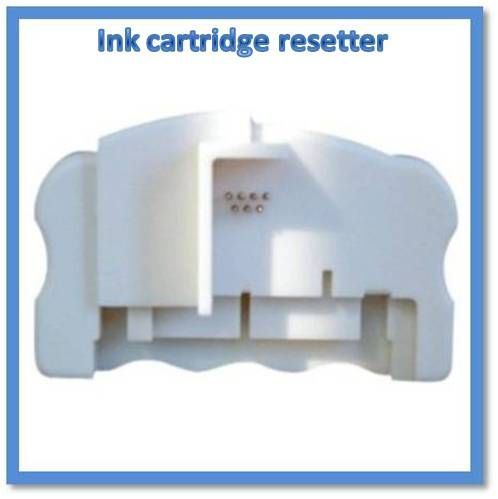 How to use an ink cartridge resetter to get rid of printer error messages when using recycled ink cartridges