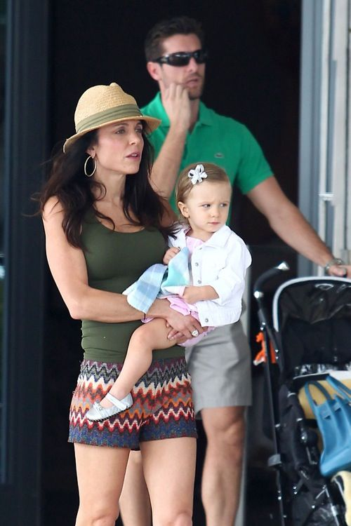 Bethenny Frankel and daughter in Miami