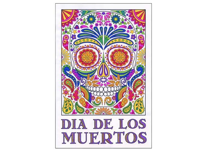 "Day of the Dead Mural template. Buy the PDF file for $5 and print as many as you want. 24""x36"" and 32""x48"" sizes. Perfect for your classroom door."