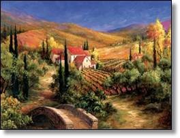 Tuscan art of home and farming
