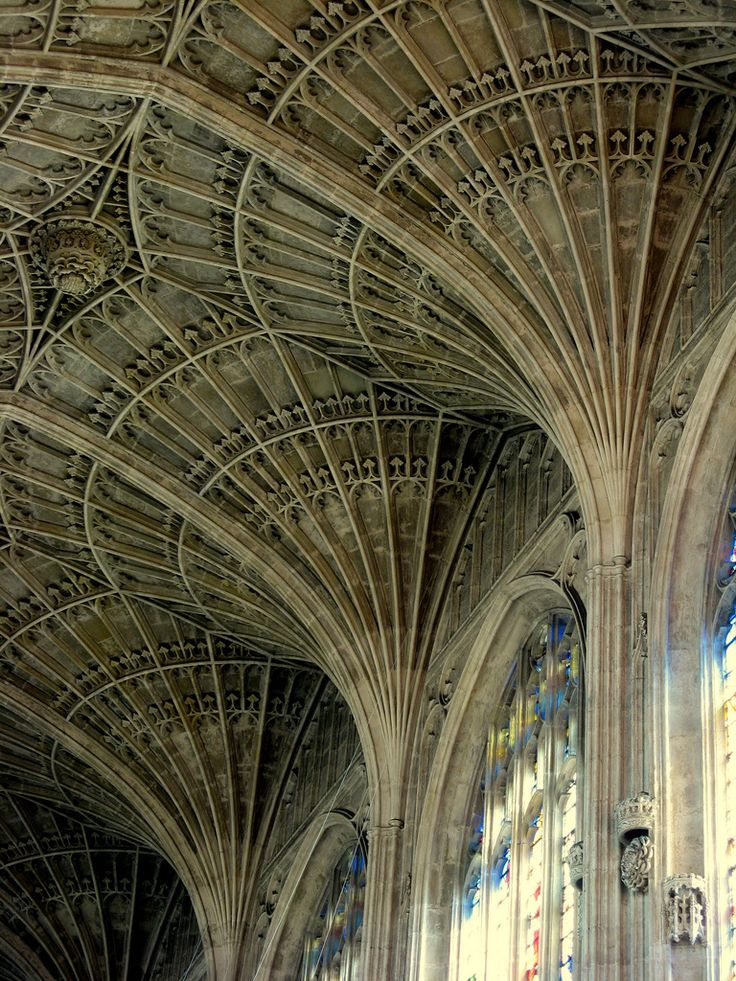 Gothic architecture at Kings College, Cambridge, United Kingdom