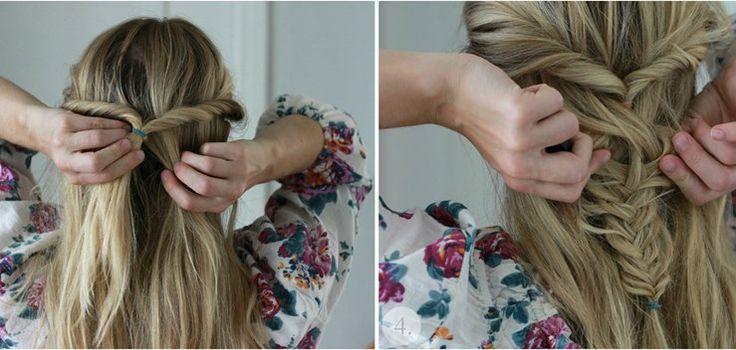 Stressigt på morgonen men du känner ändå att du vill göra något snabbt och snyggt med håret? Då ska du kika in den här steg för steg guiden till en