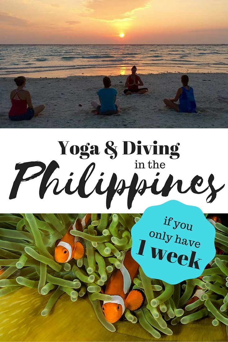 Want to combine both Yoga & Diving during your vacation in the Philippines? Here's our guide on where to go if you only have 1 week to spend!