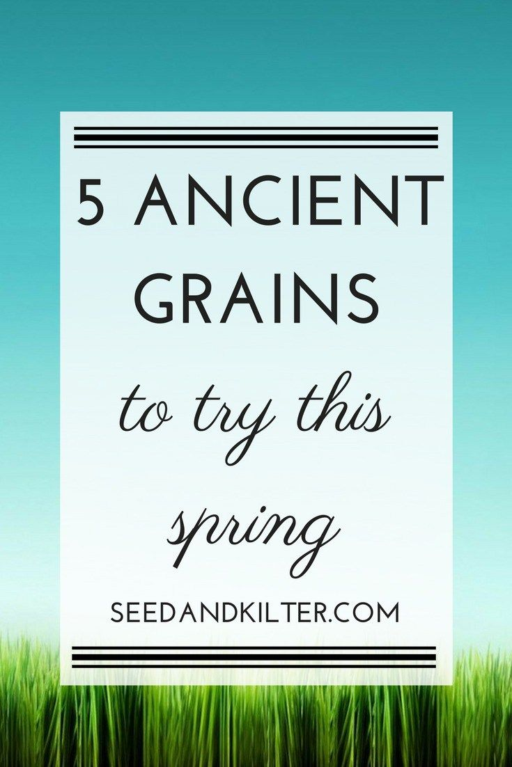5 Ancient Grains to try this spring