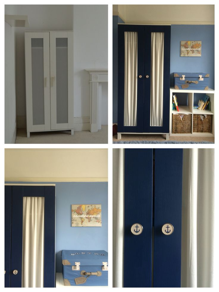 My latest IKEA Hack: an Aneboda wardrobe. Nautical nursery. Check out my Facebook page: facebook.com/UKHMP