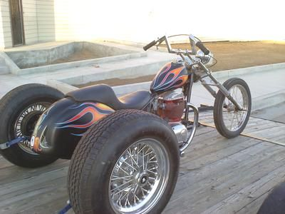 1971 BSA Custom Trike Motorcycle for Sale; Classic BSA Rat Rod Style