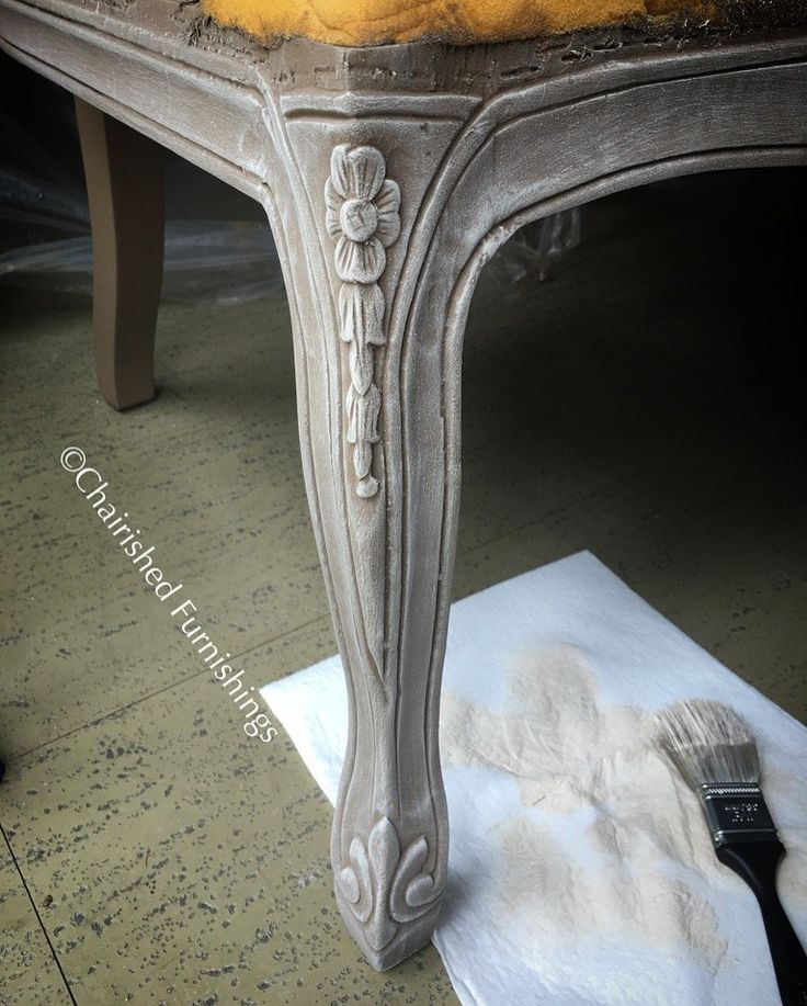 Settee Makeover: Making an Old Piece Look High-End/also how to make chalk paint