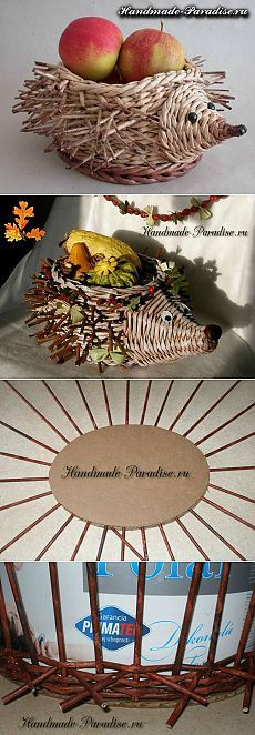 süni Плетение ежика из газетных трубочек - Handmade-Paradise