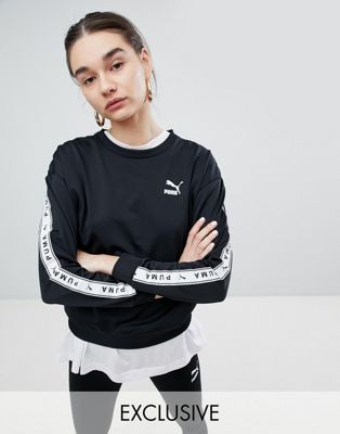 Puma Exclusive To ASOS Sweatshirt With Taping In Black