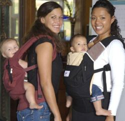 ErgoBaby Original Carrier (~$115): The top selling soft structured carrier. Can we imagine life without Ergo? No. Best sun hood on the market. Infant adapter available for extra $38. Read more at http://www.lucieslist.com/baby-registry-basics/best-soft-structured-baby-carriers/#ergo