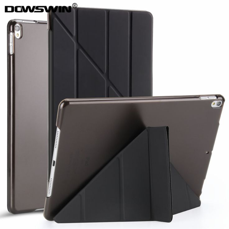 DOWSWIN case for ipad pro 10.5 inch PU leather transparent&PC hard back cover fashion style flip stand for ipad pro 10.5 case
