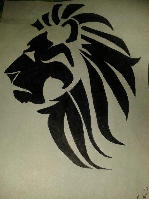 Tribal Lion Tattoo Sketch