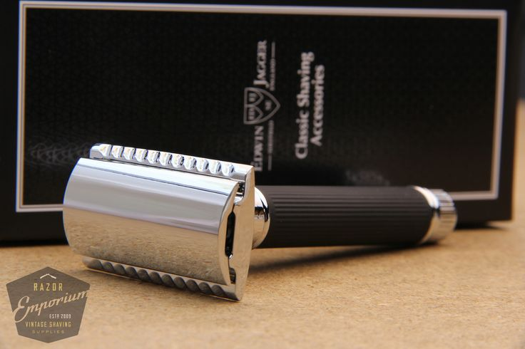 Razor Emporium - Edwin Jagger DE86RC-14BL Black Rubber Coated Handle Chome Plated Safety Razor, $40.00 (http://www.razoremporium.com/edwin-jagger-de86rc-14bl-black-rubber-coated-handle-chome-plated-safety-razor/)