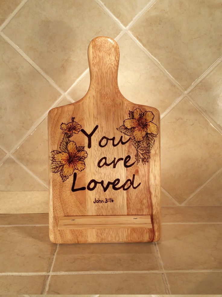 Wooden Tablet Stand/ Recipe Holder by TwinPalms1 on Etsy