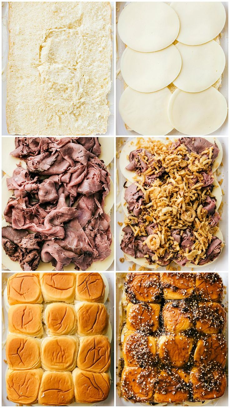 The best possible version of French Dip sandwiches — made into SIMPLE oven-bake…