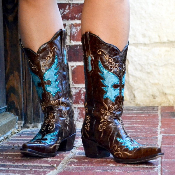 Bandera Brown Goatskin Leather Boots made by Bodacious Boots......